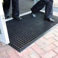Heavy Duty Anti Fatigue Rubber Door Entrance  Mat 0.9m x 1.5m